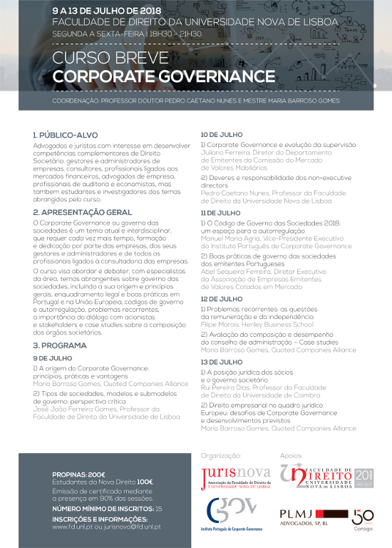 Programa Corporate Governance - Curso Breve